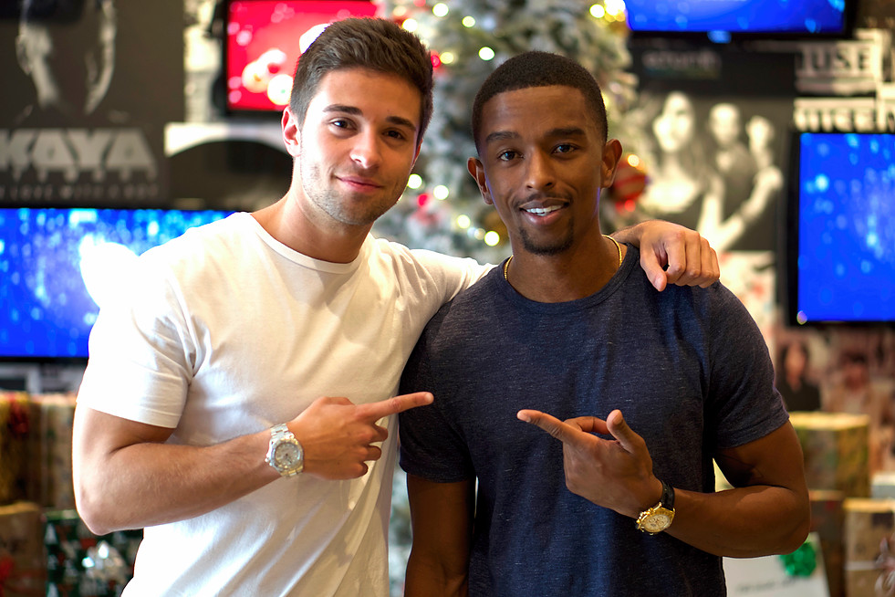 Kevin L. Walker and Jake Miller at Warner Bro