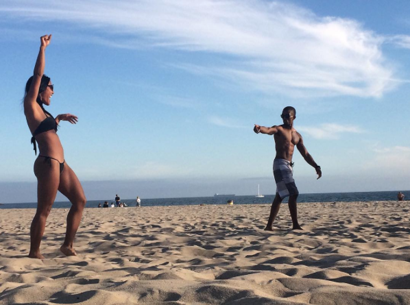 Kevin L. Walker and Donnabella Mortel at Venice beach