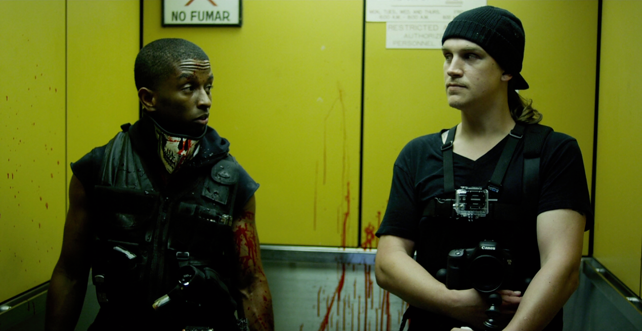 Kevin L. Walker and Jason Mewes in Vigilante Diaries