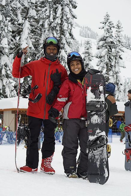 Kevin L. Walker and Donnabella Mortel at Snow Qualmie Mountain