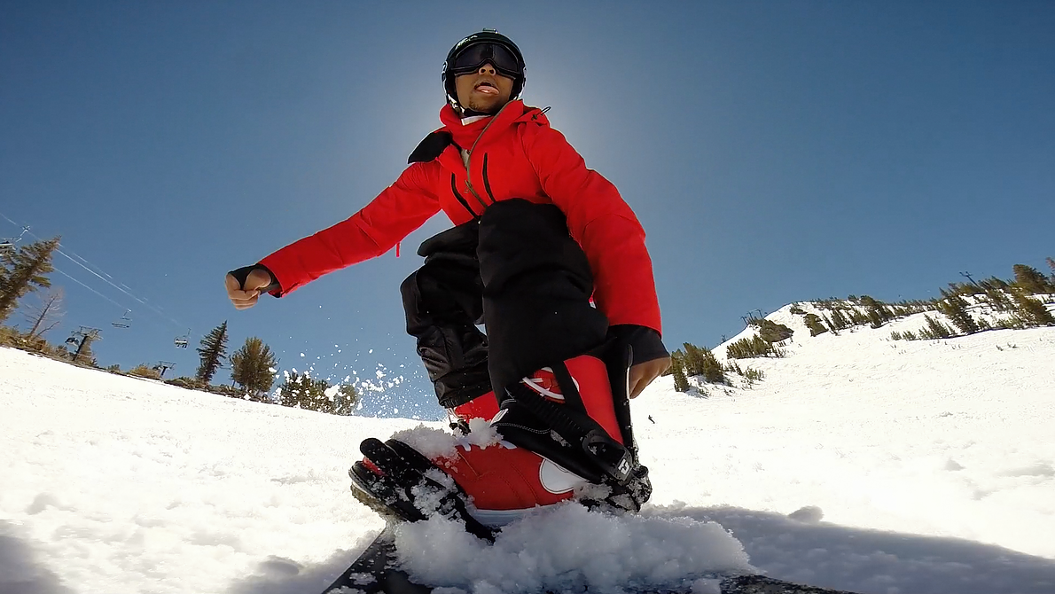 Kevin L. Walker snowboarding Mammoth Mountain Black Diamond
