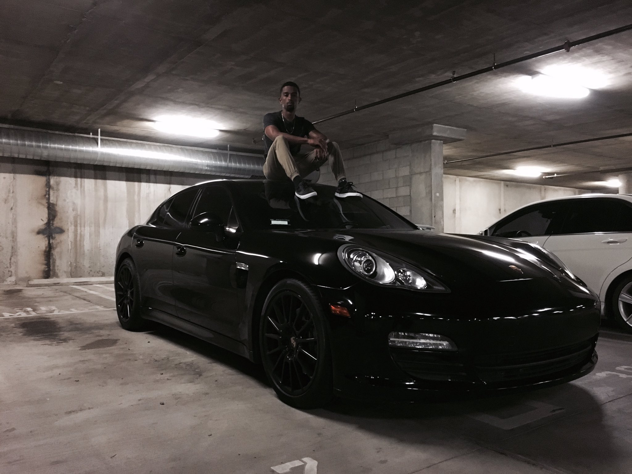 Kevin L. Walker on his Porsche Panamera